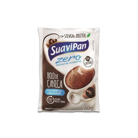 26f6a9d8b Bolo De Caneca Chocolate Zero Açúcar E Zero Lactose Suavipan 60g ...