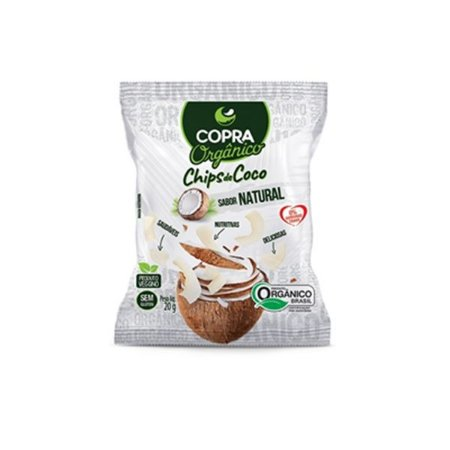 Chips De Coco Orgânico, Sem Açúcar Copra 20g