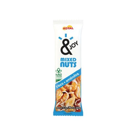 Barra Mixed Nuts Coco + Amêndoas &joy 30g