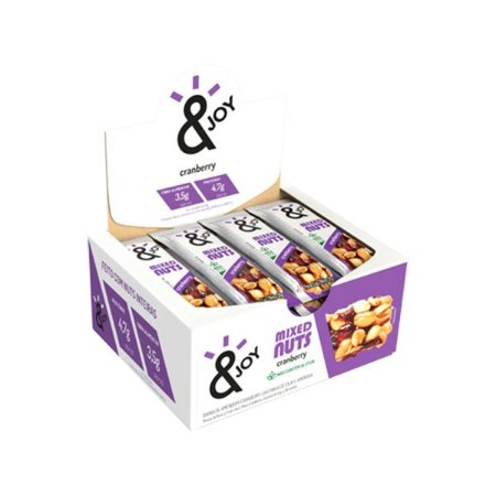 Barra Mixed Nuts Cranberry &joy Contendo 12 Unidades De 30g Cada