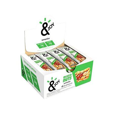 BARRA MIXED NUTS SEMENTES &JOY CONTENDO 12 UNIDADES DE 30g CADA