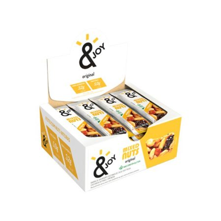 Barra Mixed Nuts Original &joy Contendo 12 Unidades De 30g Cada