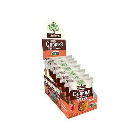 Mini Cookies Integrais E Orgânicos Diet Maçã E Canela Mãe Terra Contendo 7 Pacotes De 25g Cada