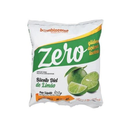 Biscoito Diet Sabor Limão Bombiscoito Zero Glúten E Zero Lactose 100g