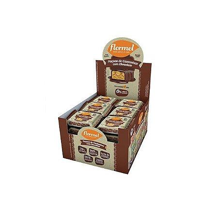 Paçoca De Castanha Com Chocolate 0% Açúcar Flormel Contendo 24 Unidades