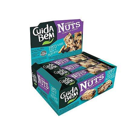 Barra De Nuts Com Uva-passa Zero Açúcar Cuida Bem Contendo 12 Unidades De 25g Cada