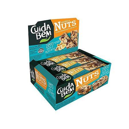Barra De Nuts Com Banana E Quinoa Zero Açúcar Cuida Bem Contendo 12 Unidades De 25g Cada