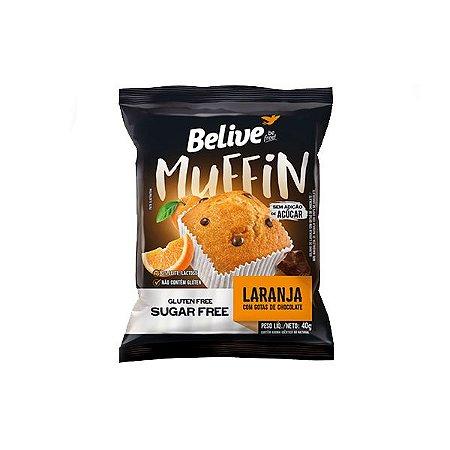 Muffin Belive Be Free Laranja Com Gotas De Chocolate Sem Glúten, Açúcar E Lactose 40g