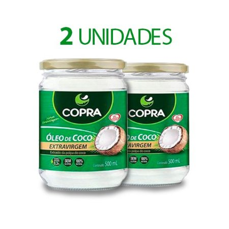 ÓLEO DE COCO COPRA EXTRAVIRGEM 2x 500ml
