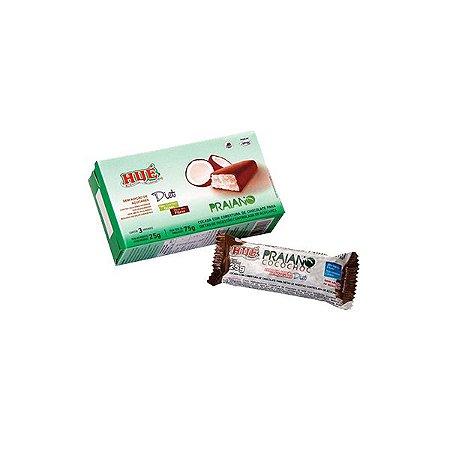 Praiano Hué - Cocada Coberta Com Chocolate, Zero Lactose, Zero Açúcar Contendo 3 Unidades De 25g Cada
