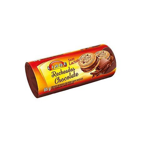 BISCOITO RECHEADO CHOCOLATE SEM LACTOSE LIANE 65g