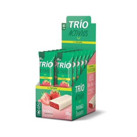 Trio Activios Morango & Iogurte Contendo 12 Unidades De 25g Cada.