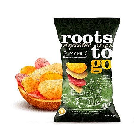 Chips De Mandioca E Batatas-doces Original Roots To Go 45g