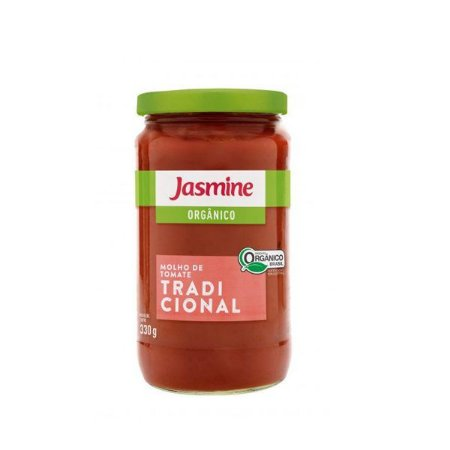 Molho De Tomate Tradicional Orgânico Jasmine 330g