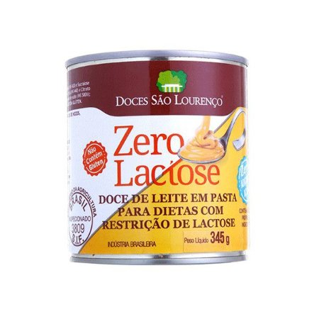Doce De Leite Zero Lactose E Zero Açúcar Doces São Lourenço 345g
