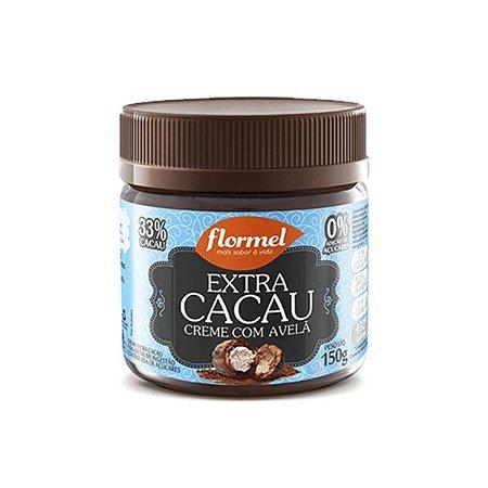 Creme De Avelã Extra Cacau Zero Açúcar Flormel Pote