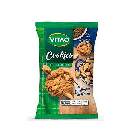 Cookies Integrais, Zero Açúcar Castanha-do-pará Vitao 80g