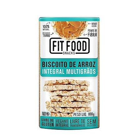 Biscoito De Arroz Integral Multigrãos Fitfood 100g