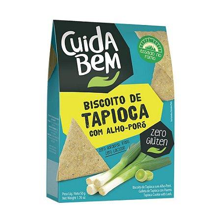 Biscoito De Tapioca Com Alho-poró Cuida Bem 50g