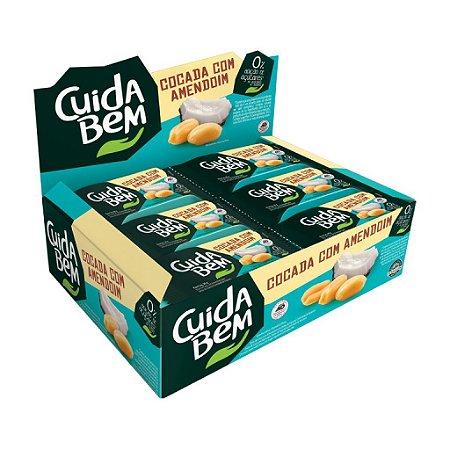 Cocada Com Amendoim Zero Açúcar Cuida Bem Contendo 24 Unidades De 20g Cada