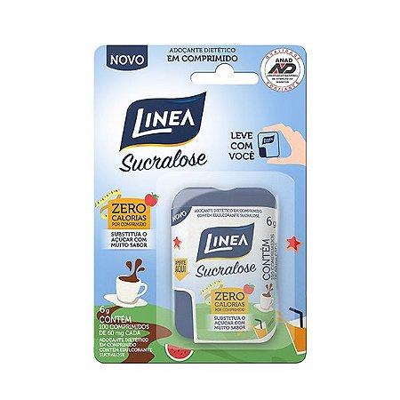 Adoçante em comprimido 100% Sucralose Linea contendo 100 unidades de 60mg cada