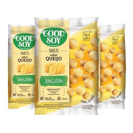 Snacks De Soja Good Soy Sabor Queijo Contendo 3 Pacotes De 25g Cada