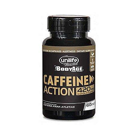 CAFFEINE ACTION - CAFEÍNA EM CÁPSULAS UNILIFE CONTENDO 60 CÁPSULAS DE 700mg CADA