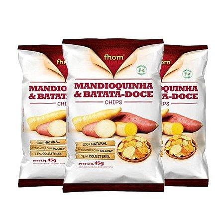 Mandioquinha E Batata-doce Chips Fhom 3 Unidades De 45g Cada