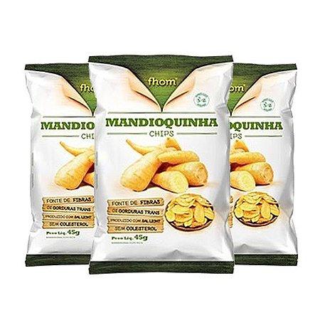 Mandioquinha Chips Fhom 3 Unidades De 45g Cada