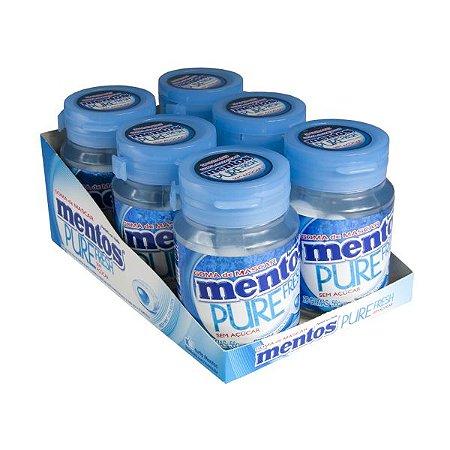 Mentos Garrafa Pure Fresh Mint Contendo 6 Frascos Com 28 Unidades Cada