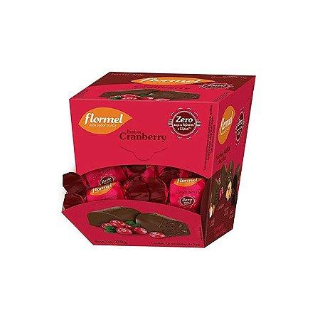 Bombom Flormel Com Pedaços De Cranberry Zero Açúcar Contendo 18 Bombons