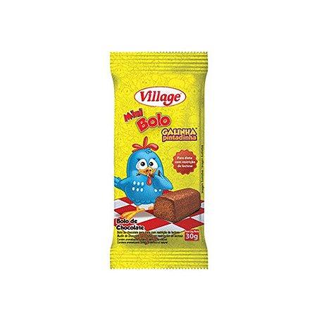 Bolinho Village Galinha Pintadinha Sem Lactose Sabor Chocolate 30g