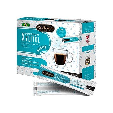 Adoçante Natural Xylitol La Pianezza Contendo 50 Sachês De 5g Cada