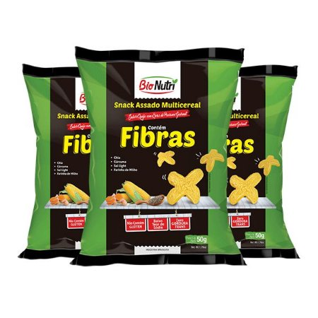 Snack Bionutri Multicereal Fibras Sabor Queijo Com Ervas De Provance Contendo 3 Pacotes De 50g Cada
