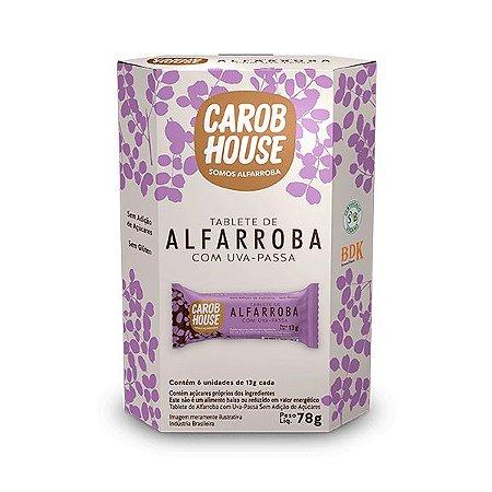 Alfarroba Com Uva-passa Carob House Contendo 6 Tabletes