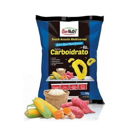 Snack Bionutri Multicereal Carboidratos Sabor Lemon Pepper Gourmet 50g