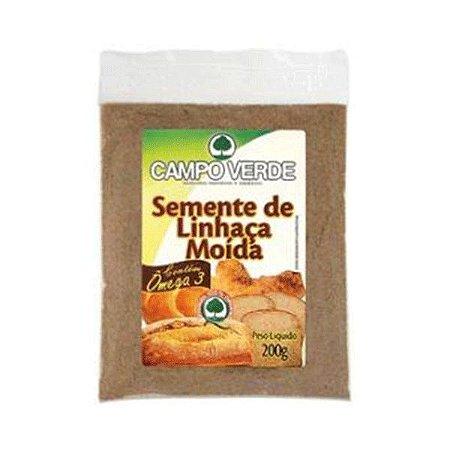 SEMENTE DE LINHAÇA MOÍDA CAMPO VERDE 200g