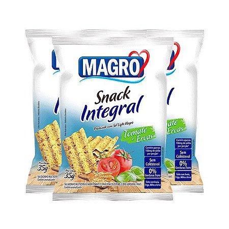 Snack Integral Tomate E Ervas Magro Contendo 3 Pacotes De 35g Cada