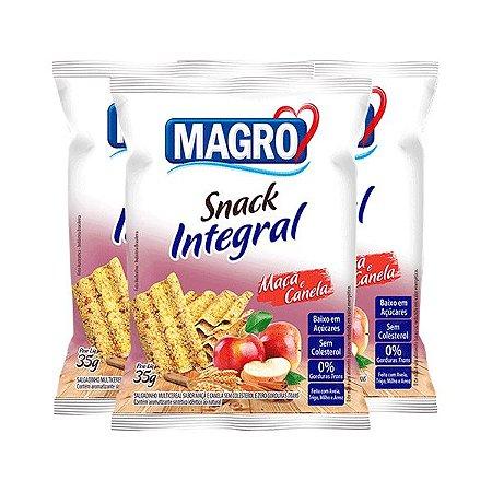 SNACK INTEGRAL MAÇÃ E CANELA MAGRO CONTENDO 3 PACOTES DE 35g CADA