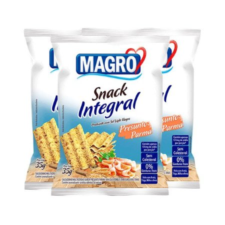 Snack Integral Presunto Parma Magro Contendo 3 Pacotes De 35g Cada