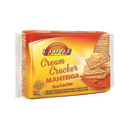 Biscoito Cream Cracker Manteiga Sem Lactose Liane 400g