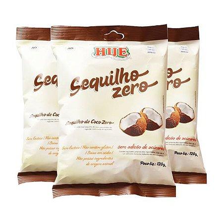 Sequilho Zero Açúcar, Zero Glúten Hué Coco Contendo 3 Pacotes De 120g Cada