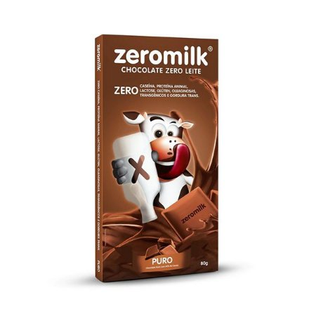 Chocolate Zeromilk 40% Cacau, Zero Lactose 80g