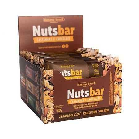 Nuts Bar Castanhas E Chocolate Zero Açúcar Contendo 12 Unidades De 25g Cada