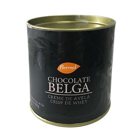 Bombom Chocolate Belga + Creme De Avelã E Crisp De Whey Lata Flormel 150g