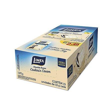 Chocolate Zero Açúcar Cookies´n Cream Linea Contendo 15 Unidades De 13g Cada