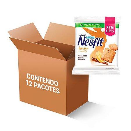 Biscoito Nesfit Sem Glúten Banana E Canela Nestle Contendo 12 Pacotes