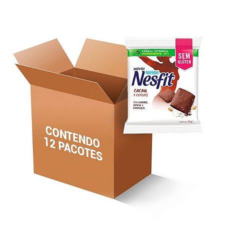 Biscoito Nesfit Sem Glúten Cacau E Cereais Nestle Contendo 12 Pacotes