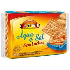 Biscoito Água E Sal Sem Lactose Liane 400g