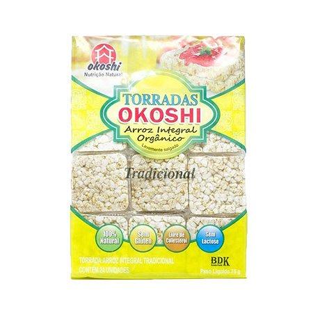 Torrada Orgânica Zero Glúten Okoshi Com 24 Unidades